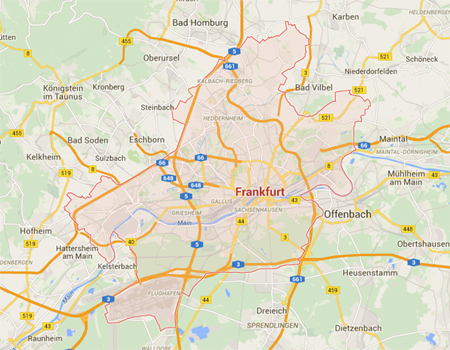 Map Of Frankfurt Germany
